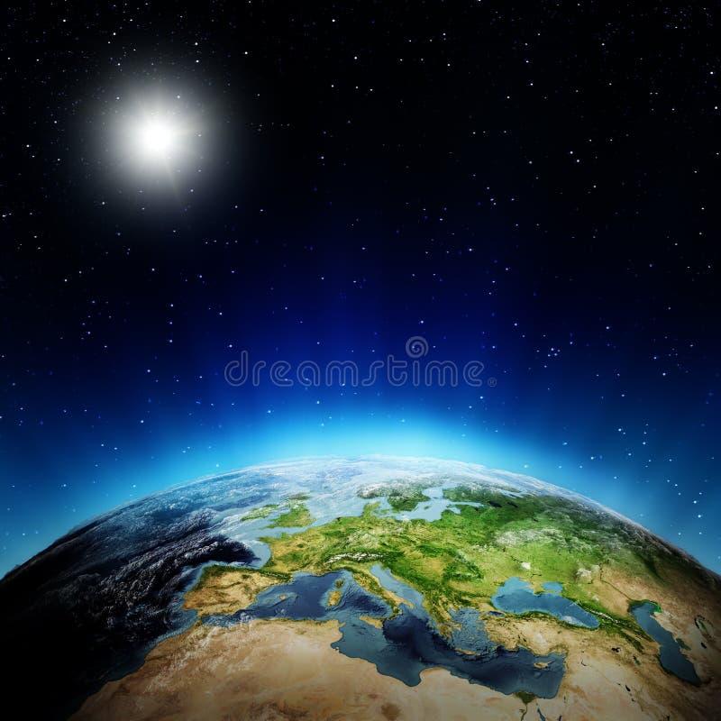 Восход солнца Европы иллюстрация вектора