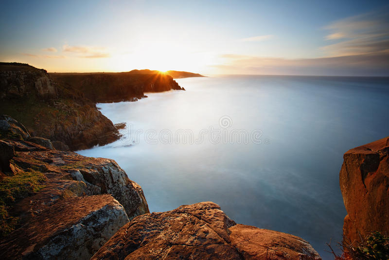 Восход солнца залива Моргана стоковая фотография