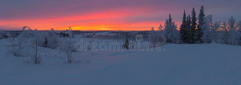 Восход солнца за Полярным кругом стоковое изображение