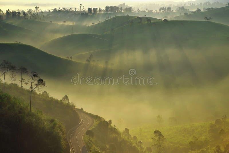 Восход солнца и крен стоковые фото