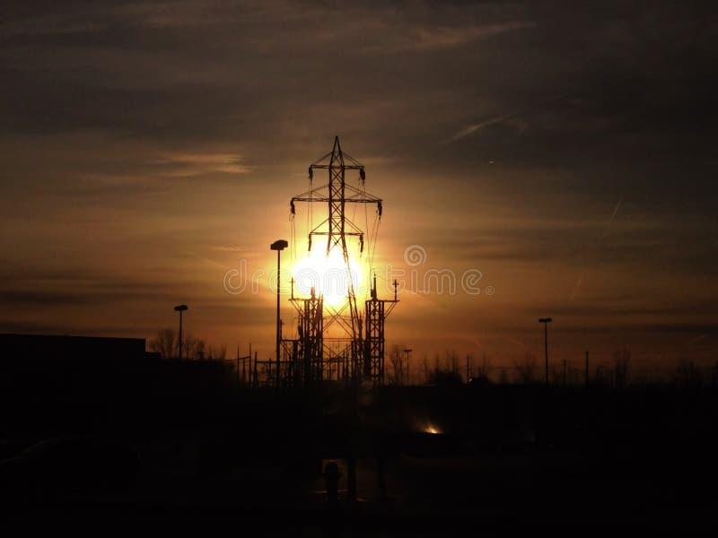 Восход солнца и общего назначения поляки стоковые изображения