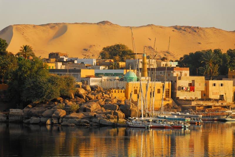 Восход солнца на Ниле стоковые изображения
