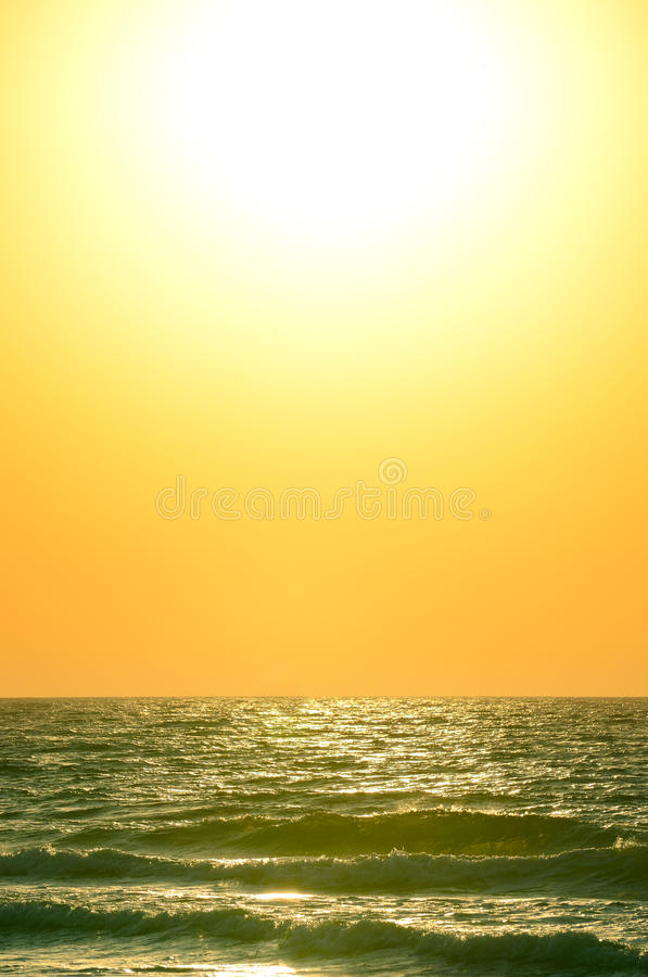 Восход солнца над океаном Стоковое Фото