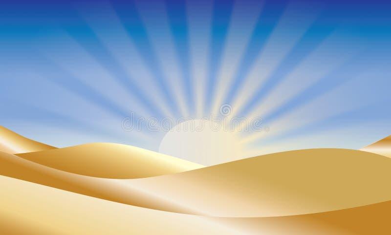 Восход солнца над пустыней стоковая фотография rf