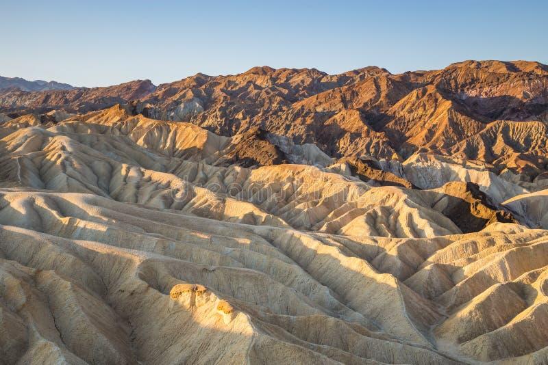 Восход солнца на этап Zabriskie в национальном парке Death Valley, Калифорнии, США стоковое изображение