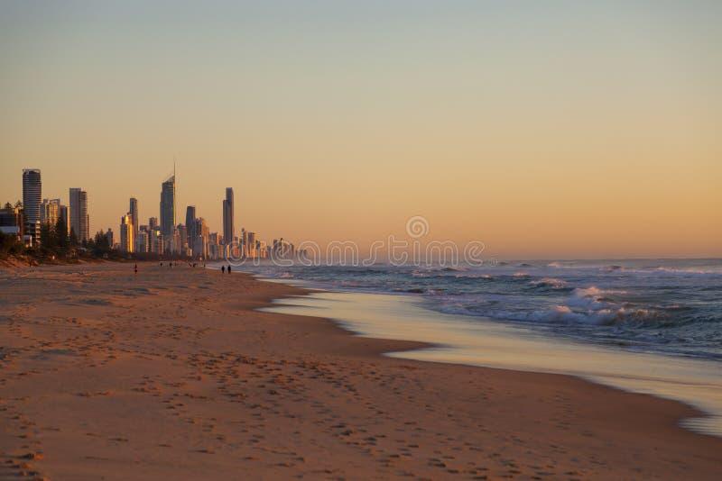 Восход солнца над Gold Coast, Австралией стоковые фото