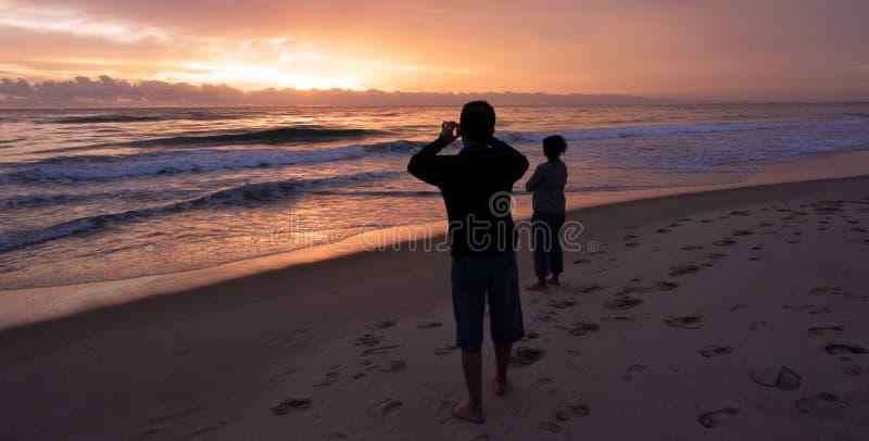Восход солнца над Gold Coast Квинслендом Австралией стоковые фото