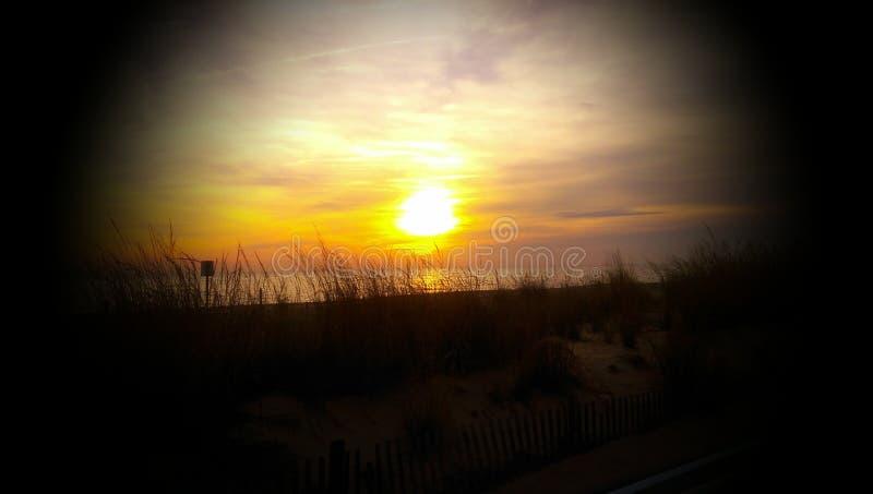 Восход солнца над Rehoboth стоковые фотографии rf