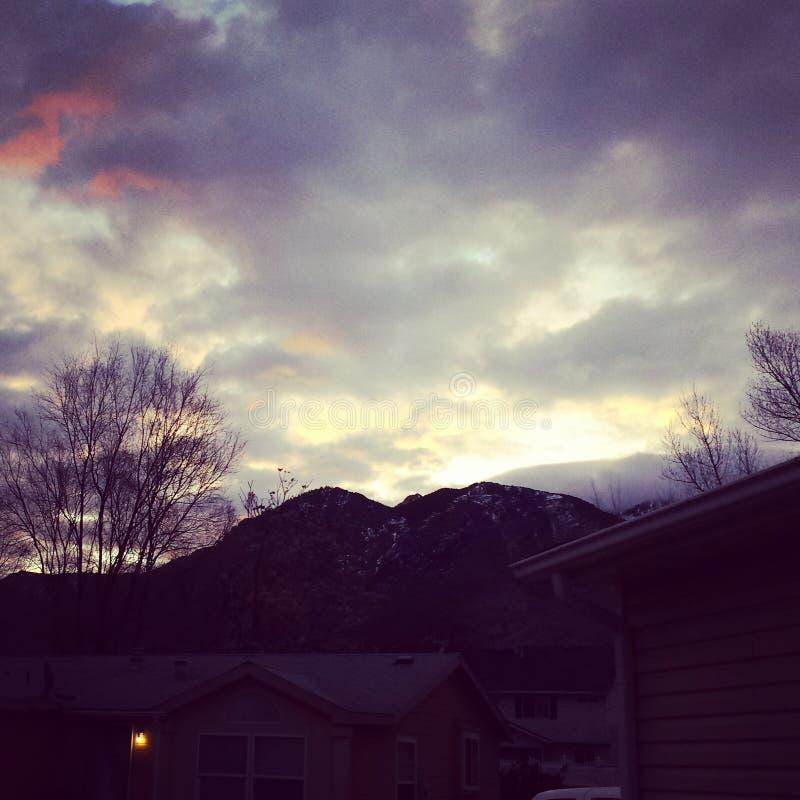 Восход солнца Огдена стоковое фото rf