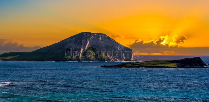 Восход солнца острова кролика стоковые изображения rf