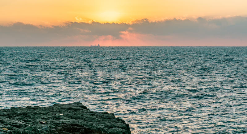 Восход солнца от Портленда Великобритании 1 стоковые изображения rf