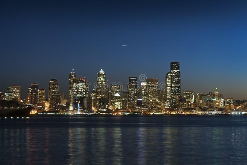 Восход солнца Сиэтл стоковые изображения rf