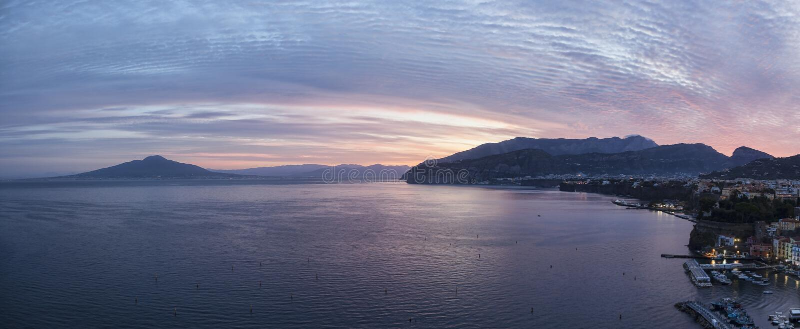 Восход солнца Сорренто стоковые фото