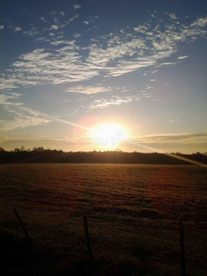 Восход солнца страны стоковая фотография rf