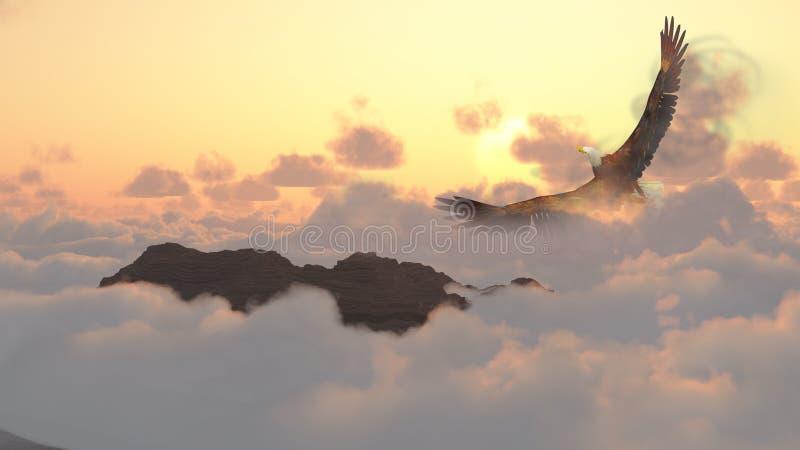 восход солнца Теннесси США большого национального парка гор горы закоптелый иллюстрация вектора
