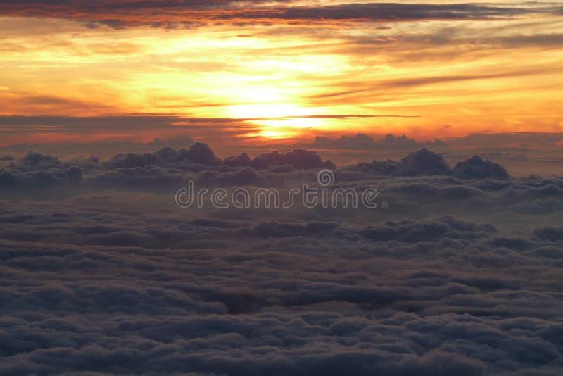 восход солнца Фудзи-Сан стоковая фотография rf