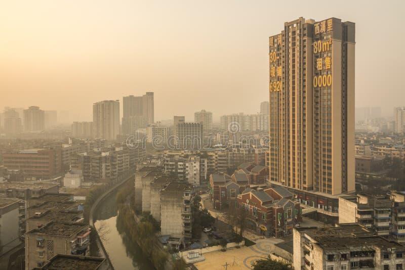 Восход солнца Чэнду стоковые фотографии rf