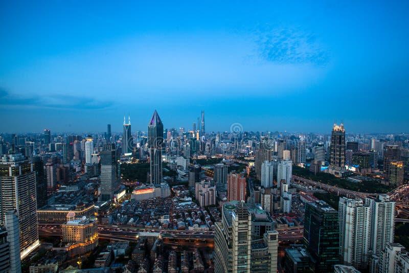 Восход солнца Шанхая стоковое фото