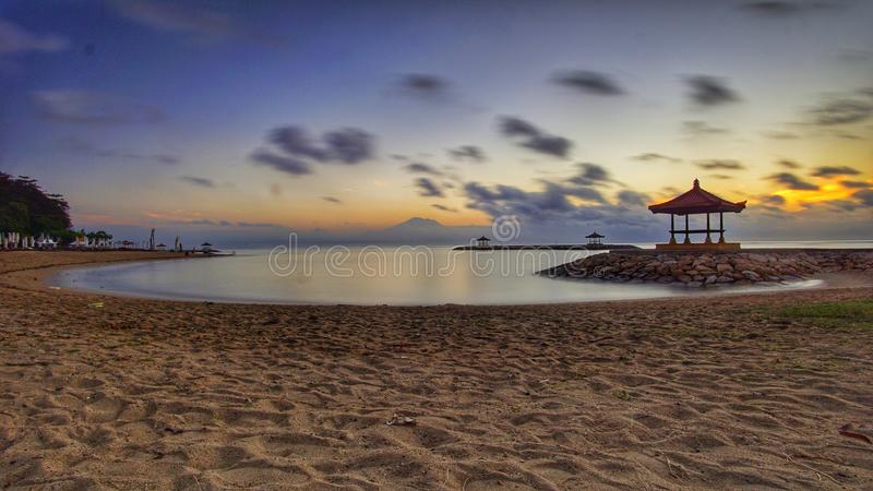 восход солнца bali стоковая фотография rf