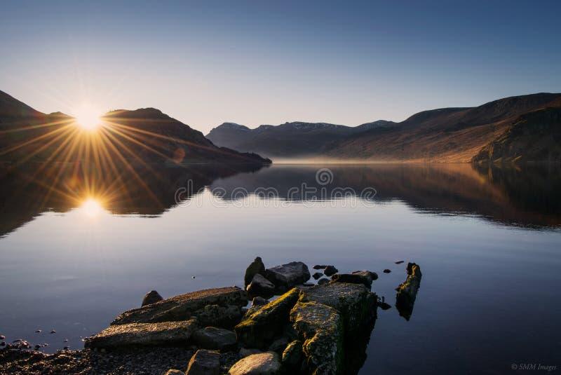 Восход солнца Ennerdale стоковые изображения rf