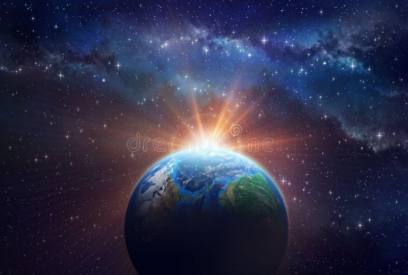 Восход солнца Exoplanet стоковая фотография rf