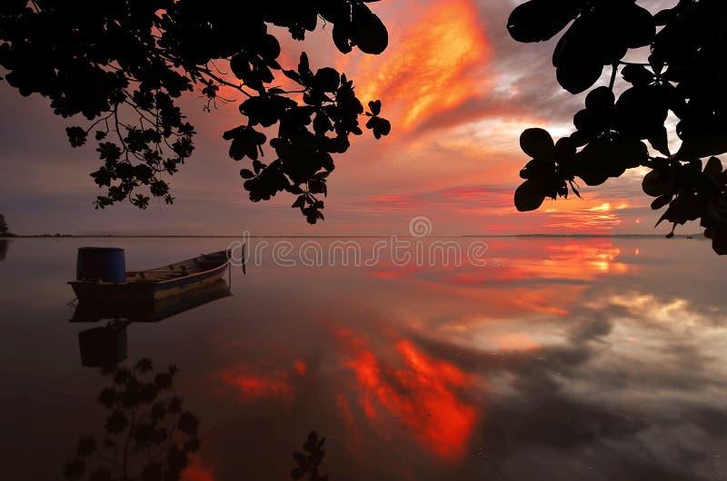 Восход солнца Jubakar Tumpat стоковое изображение