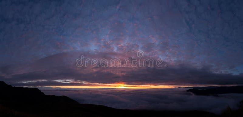 Восход солнца Pano затруднений Tres стоковые фотографии rf