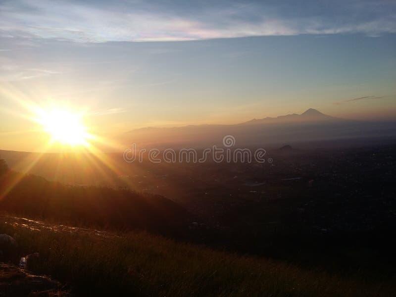 Восход солнца Paralayang стоковая фотография rf