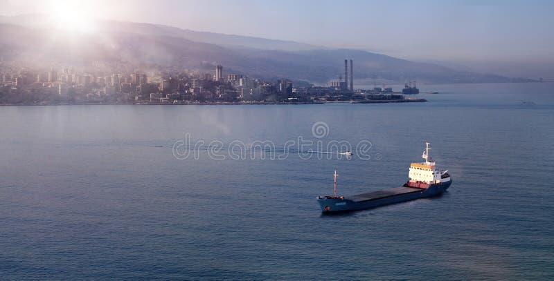 Восход солнца Seascape в Jounieh, Ливане стоковые фото