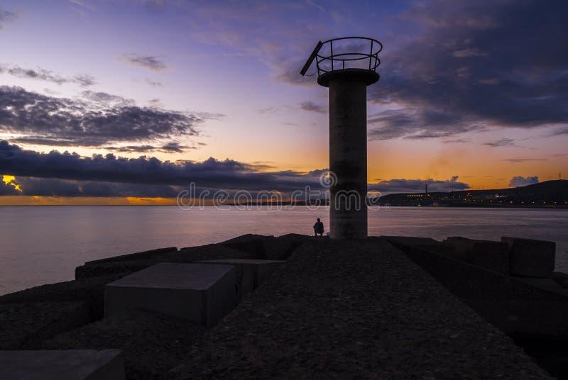Восход солнца Seashore стоковое фото