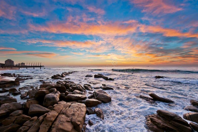 Восход солнца Umhlanga, Южная Африка стоковая фотография rf