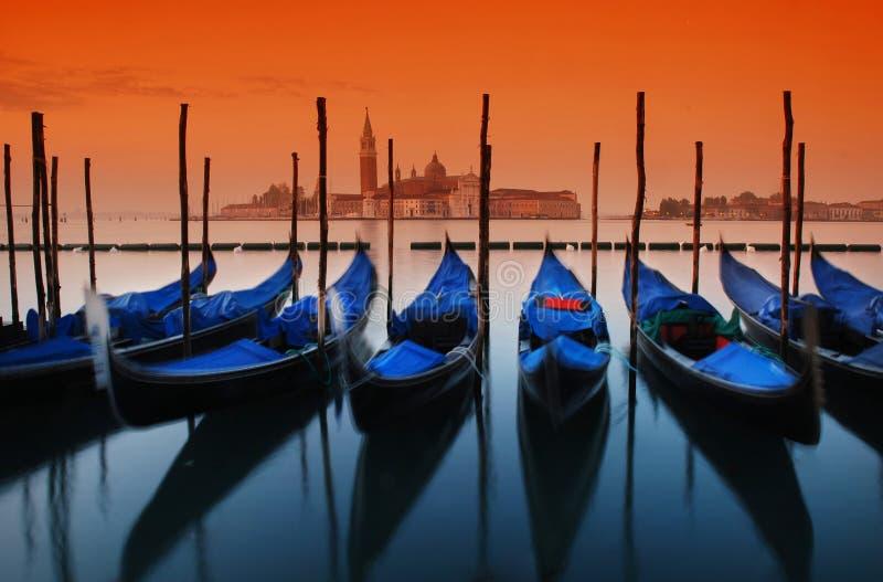 восход солнца venice стоковая фотография rf