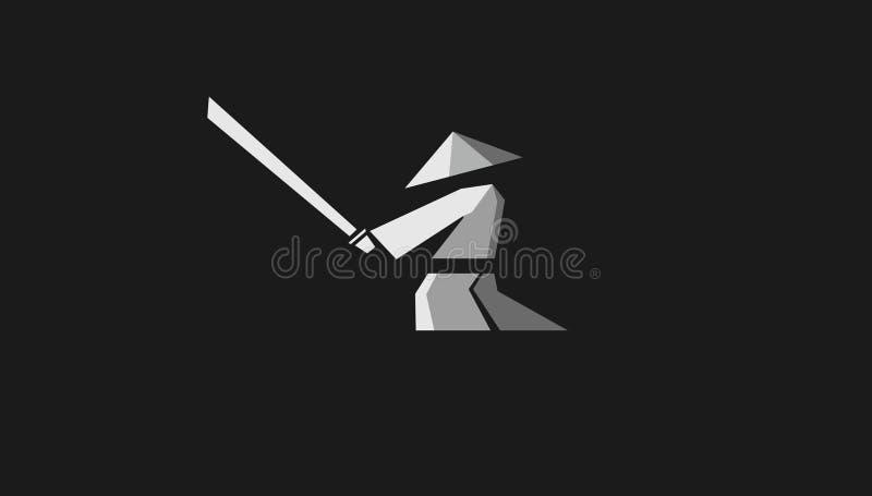 Воюя человек силуэта стоковое изображение