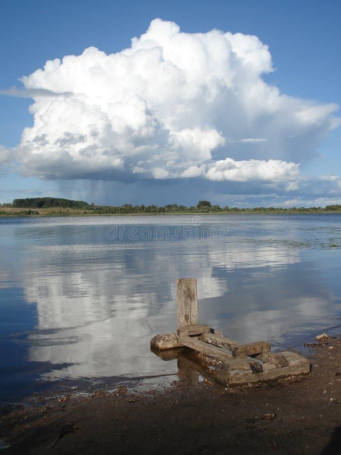 Вода и небо стоковые фотографии rf