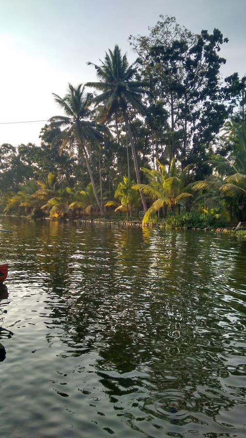 Вода Кералы задняя стоковые изображения