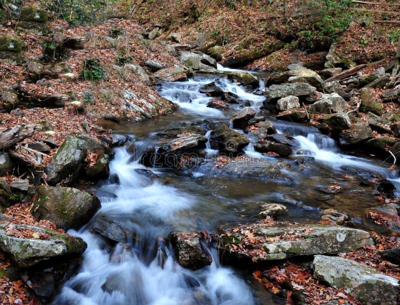 Вода пропуская вниз с реки стоковое изображение