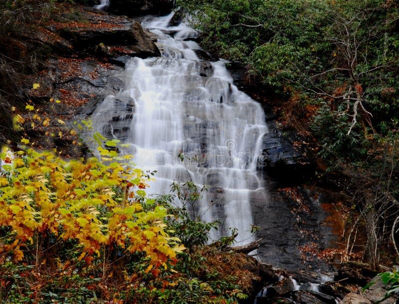 Вода пропуская вниз с реки стоковая фотография