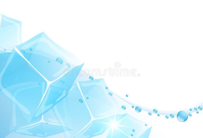 Вода со льдом иллюстрация вектора