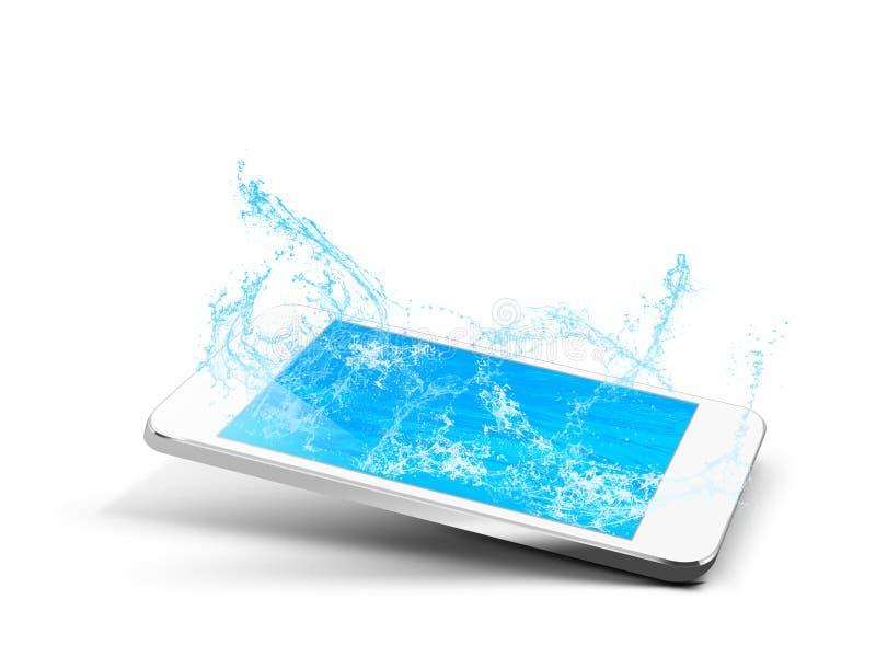 Вода телефона иллюстрация вектора