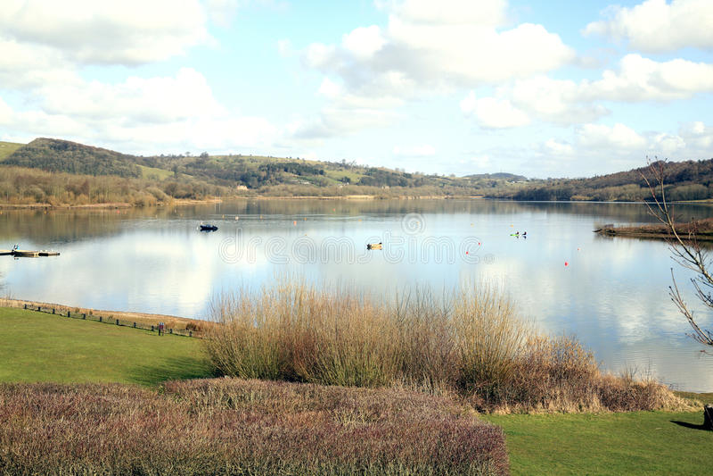 Вода Carsington, Дербишир. стоковая фотография