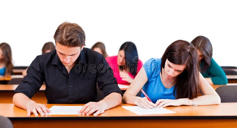 Во время выпускных экзаменов стоковые фото