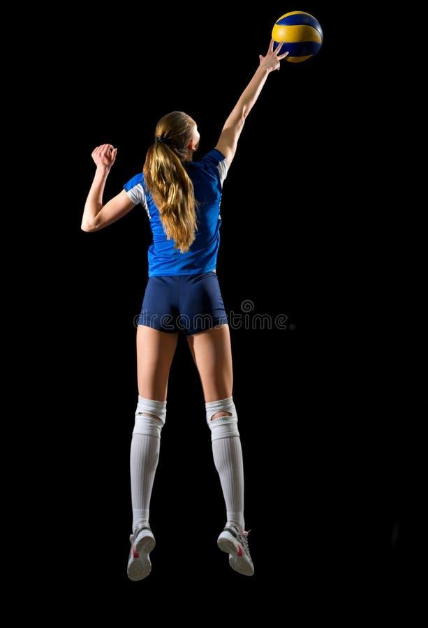 Волейболист маленькой девочки стоковая фотография rf