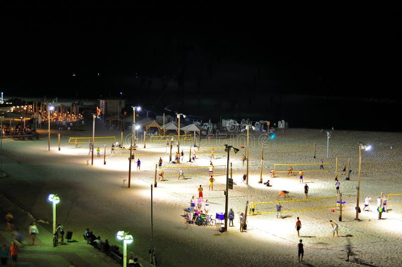 Волейбол пляжа Тель-Авив, Израиль стоковое фото
