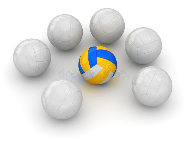 Волейбол - различный шарик иллюстрация штока