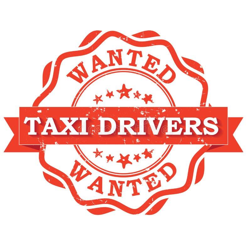 Водители такси хотели - printable штемпель/ярлык бесплатная иллюстрация