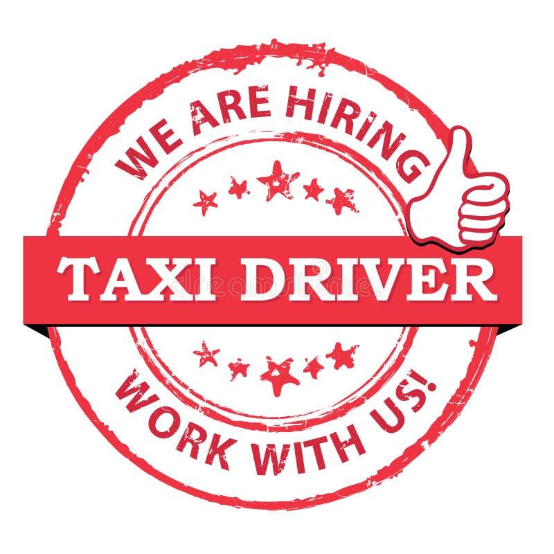 Водители такси хотели - printable штемпель/ярлык иллюстрация вектора