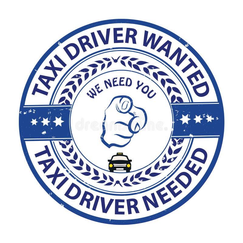 Водители такси хотели - printable штемпель/ярлык иллюстрация штока