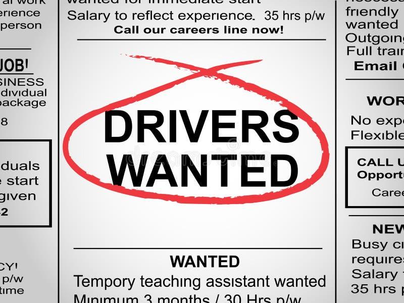 Водители хотели газету бесплатная иллюстрация