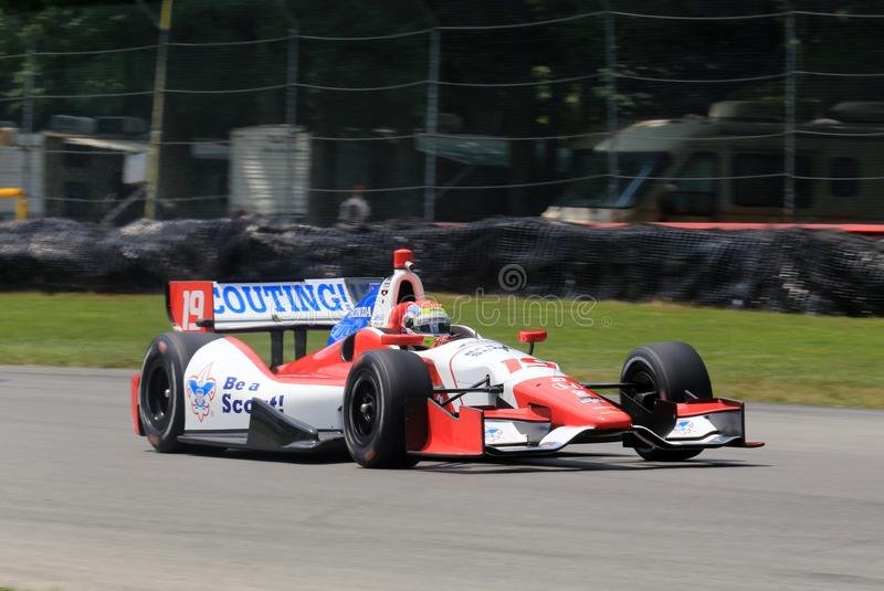 Водитель Джастин Уилсон Indycar стоковые фото
