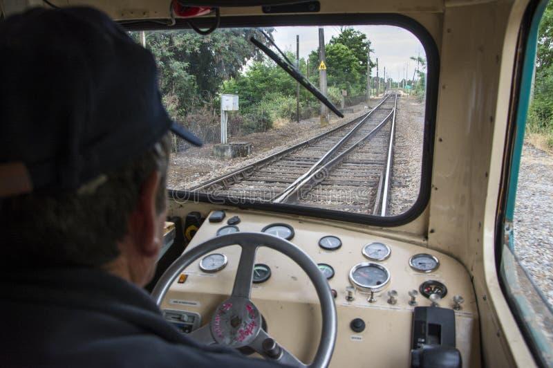 Водитель поезда стоковое фото rf